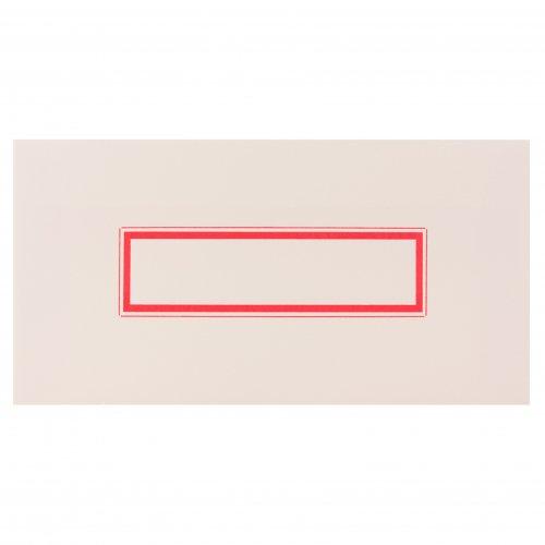 【yuruliku/ユルリク】Letterpress Envelope 活版印刷封筒(レッド)