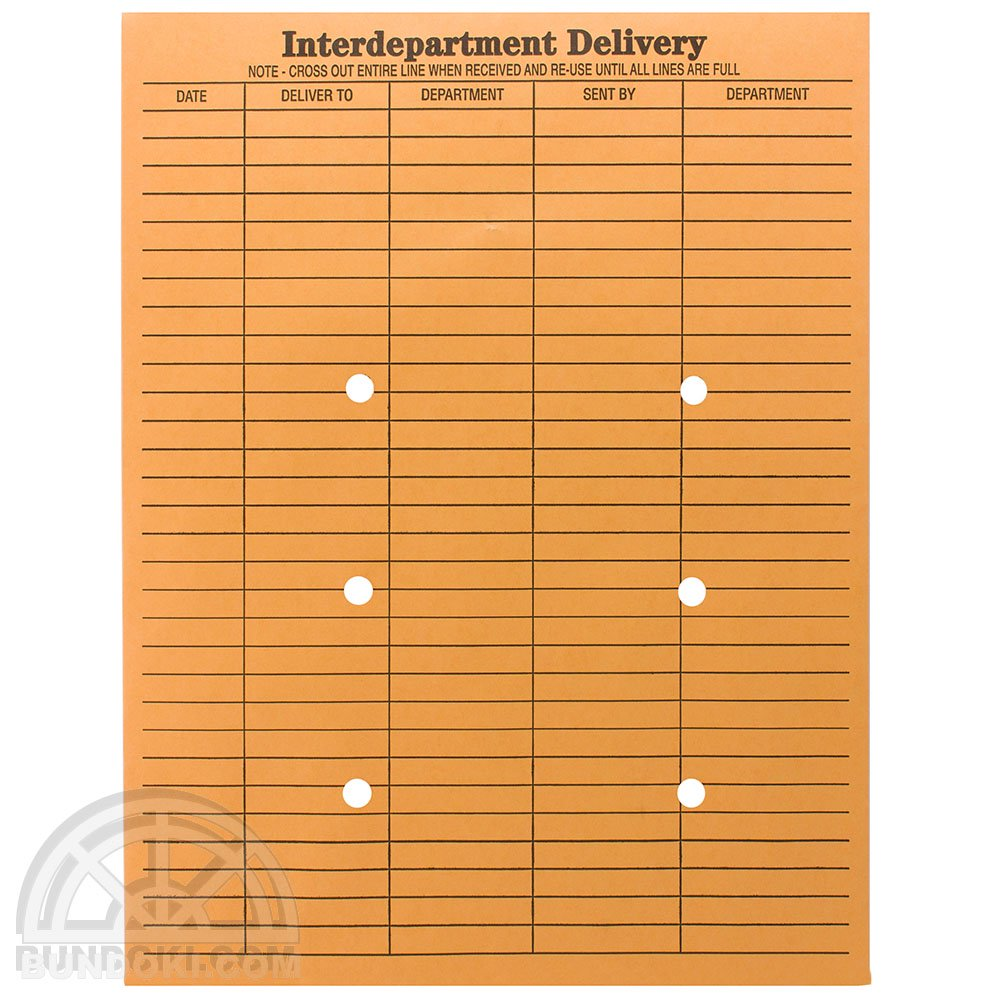 String And Button Inter-Department Envelopes