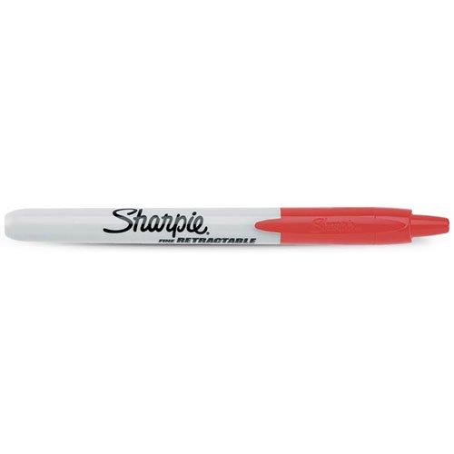【SHARPIE/シャーピー】リトラクタブルノック式油性マジック(レッド)