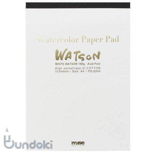 【MUSE/ミューズ】 高品位水彩紙・ホワイトワトソンパッド A4
