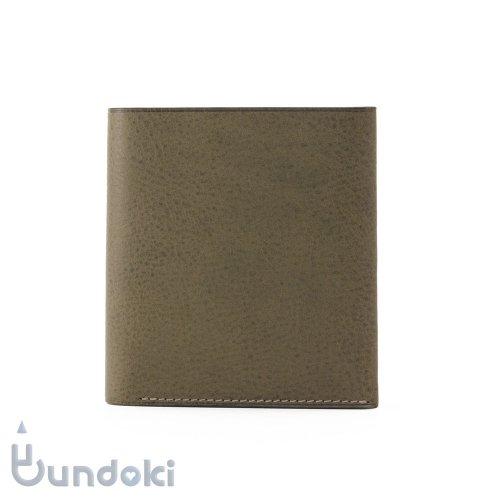 【カンダミサコ】二つ折り財布 (グリージョ)