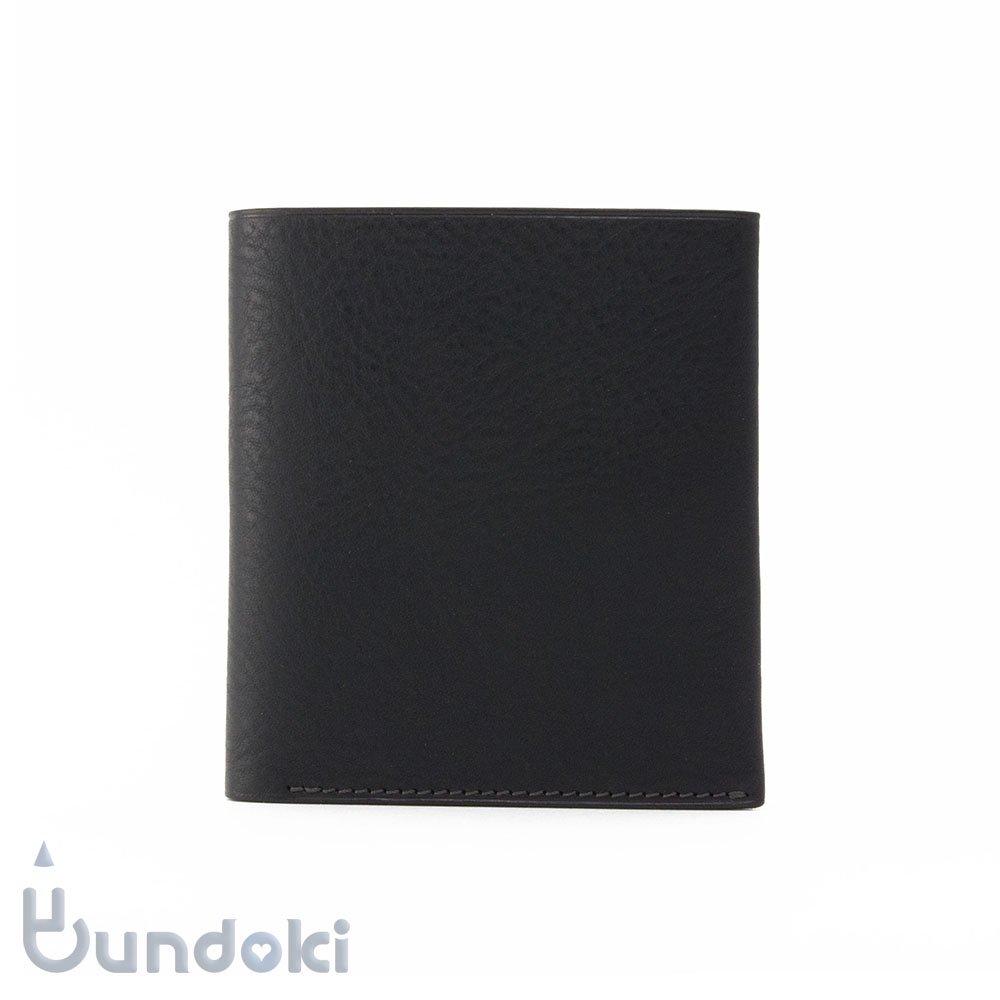 【カンダミサコ】二つ折り財布 (ネロ)