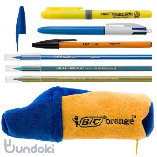 【BIC/ビック】オレンジペンケース ステーショナリーセット(ブルー)