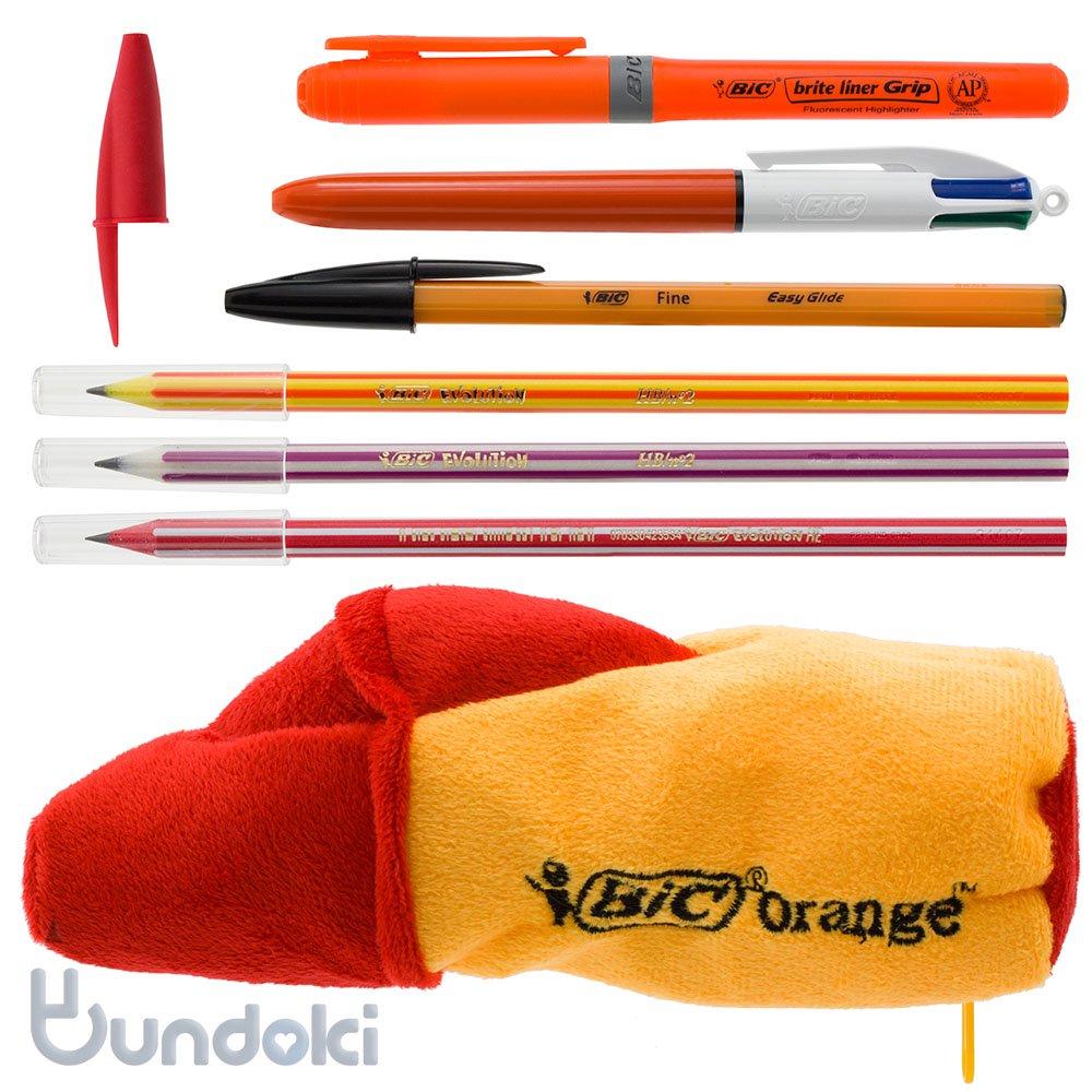 【BIC/ビック】オレンジペンケース ステーショナリーセット(レッド)