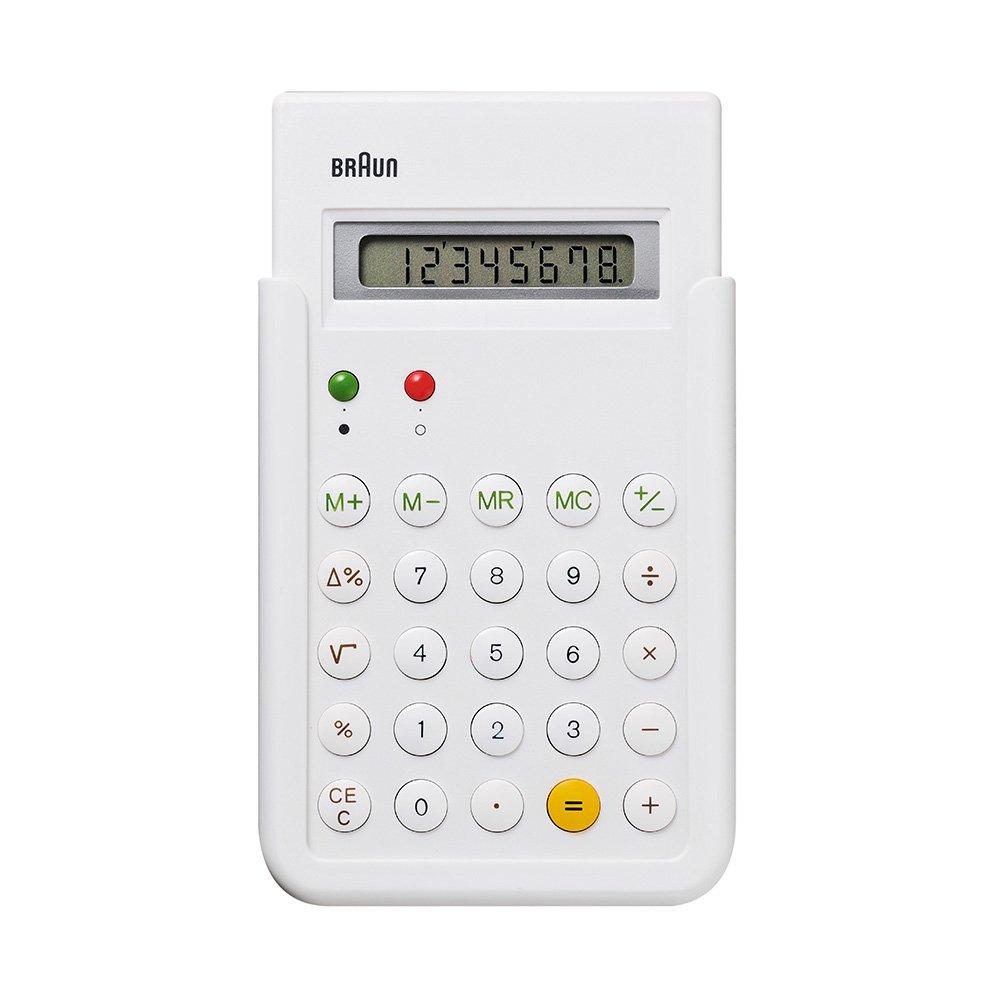 【BRAUN/ブラウン】電卓 BNE001WH/ホワイト (ET55復刻モデル)
