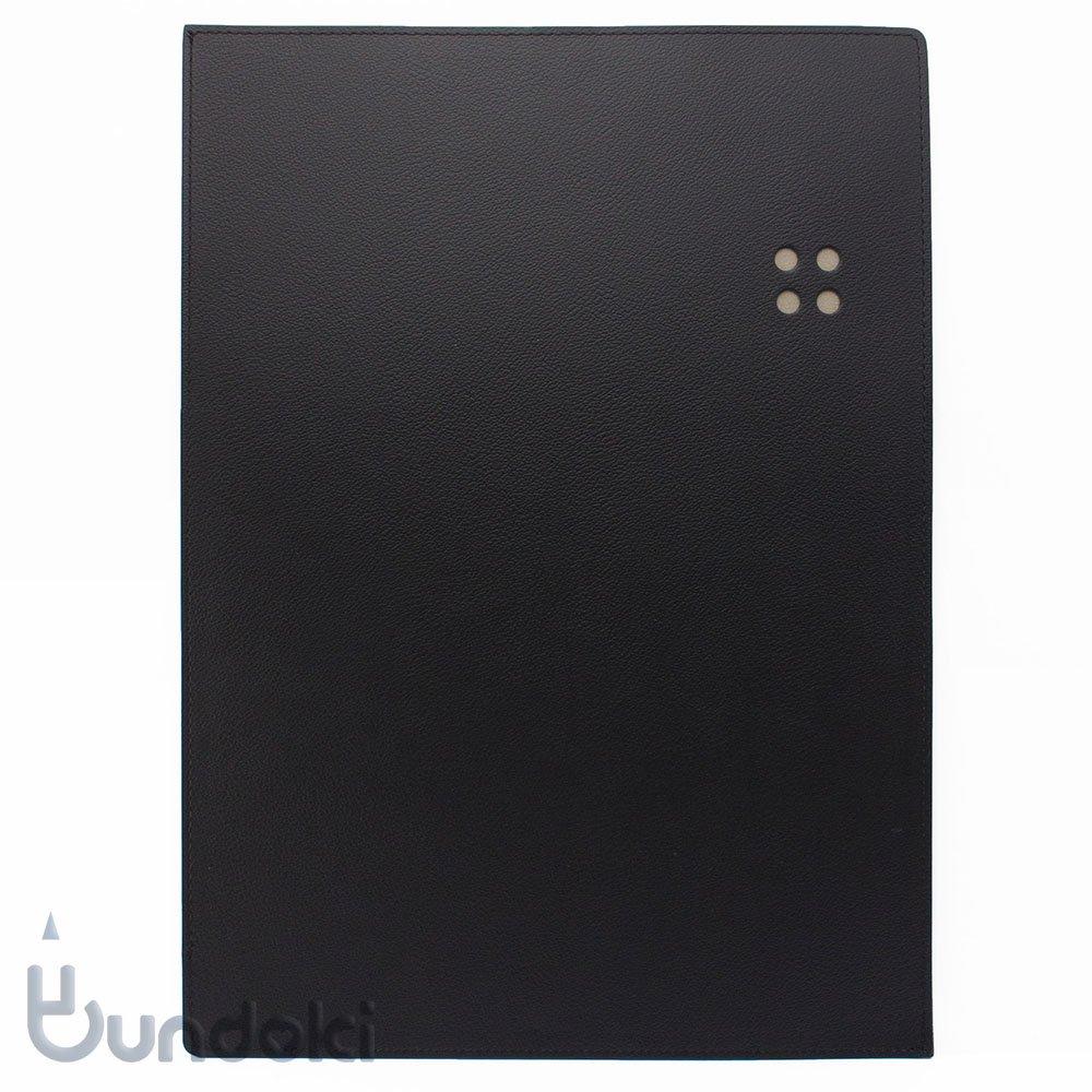 【ITO-YA/伊東屋】COLOR CHART リサイクルレザーケース/A4(ブラック)