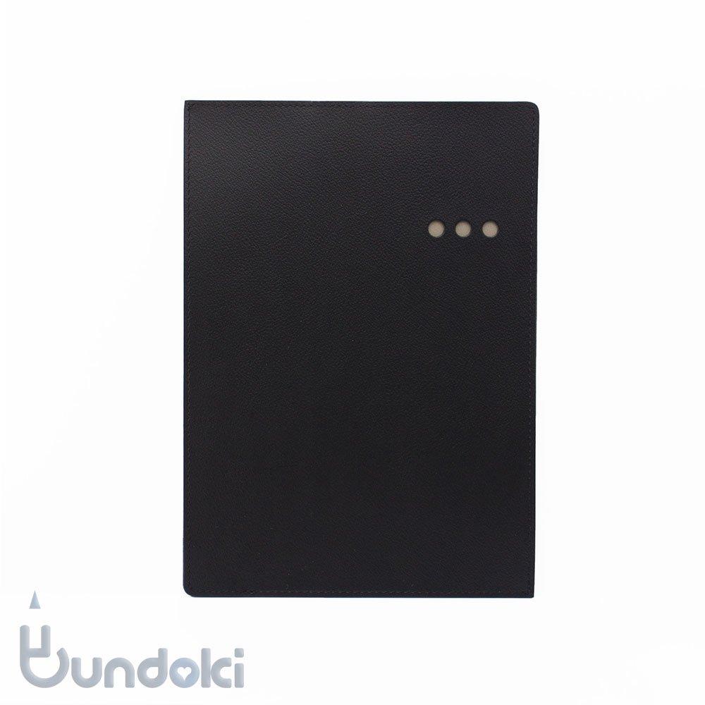【ITO-YA/伊東屋】COLOR CHART リサイクルレザーケース/A5(ブラック)