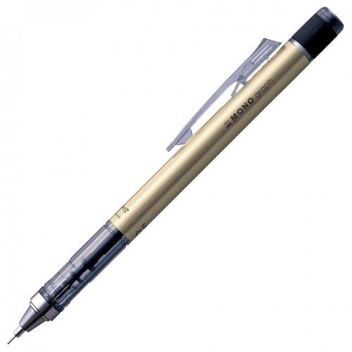 【TOMBOW/トンボ鉛筆】MONO graph/モノグラフ・シャープペンシル(0.5mm/ゴールド)