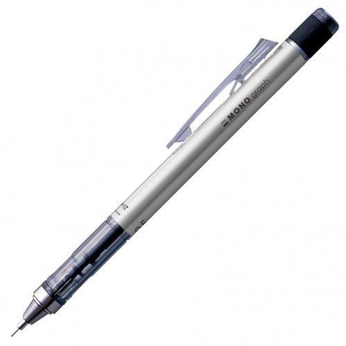 【TOMBOW/トンボ鉛筆】MONO graph/モノグラフ・シャープペンシル(0.5mm/シルバー)