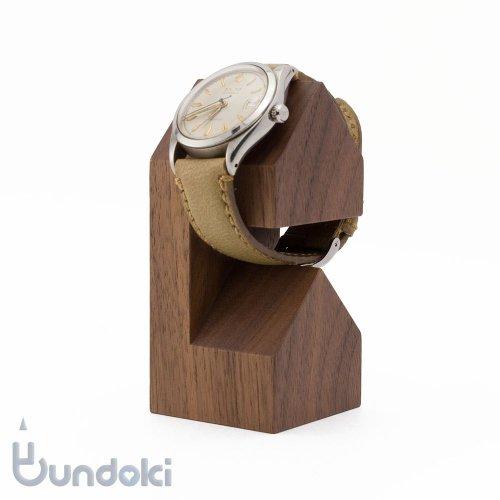【hacoa/ハコア】WatchStand House/木製腕時計スタンド(ウォールナット)