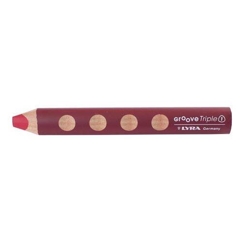 【LYRA/リラ】GROOVE Triple 1 /トリプルワン色鉛筆(単色販売/027 ワインレッド)