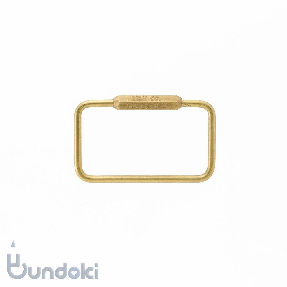 【M&U Co.】Rectangle Key Ring/レクタングルキーリング