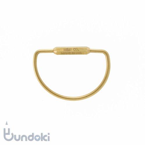 【M&U Co.】D-shape Key Ring /D-シェイプキーリング (ブラス)