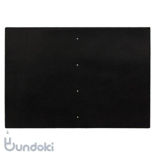 【倉敷意匠】手帳作りキット/ 表紙革 (ブラック)