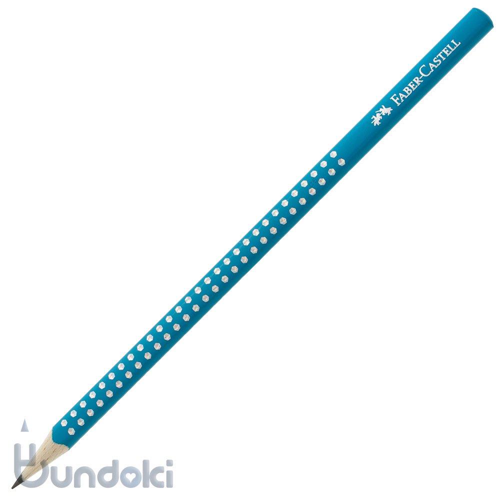 【FABER-CASTELL/ファーバーカステル】Grip SPARKLE/グリップスパークル鉛筆(ペトロールブルー)