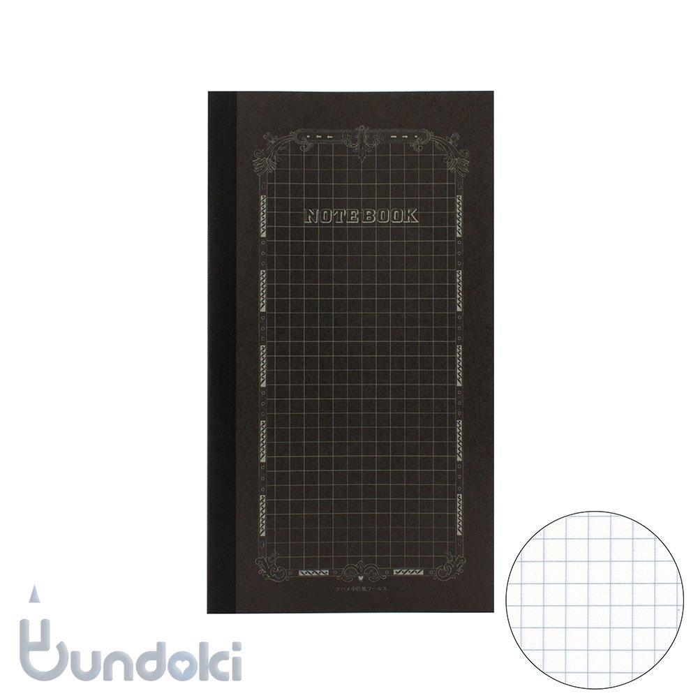 【ツバメノート】B6変形ブラックノート(方眼)