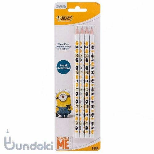 【BIC/ビック】ミニオン EVO鉛筆・4本セット