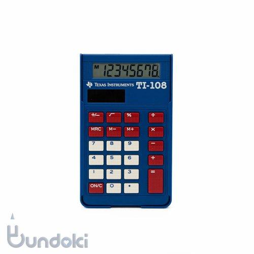 【TEXAS INSTRUMENTS/テキサスインストゥルメンツ】TI-108電卓・カバー付き
