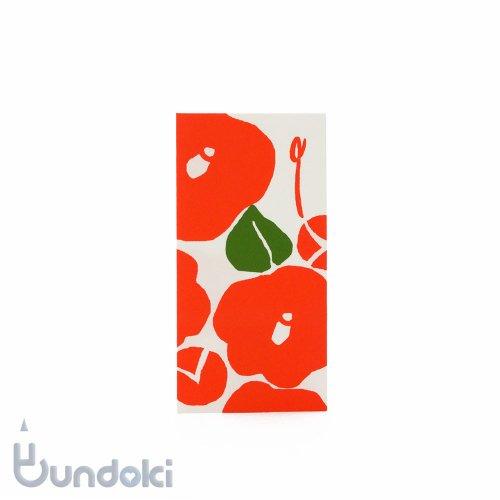 【古川紙工】美濃和紙細型金封(つばき)