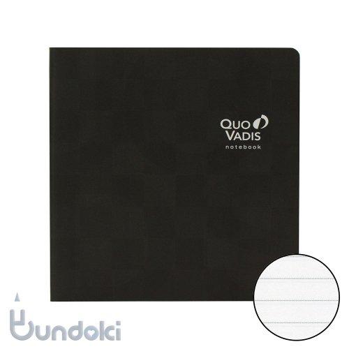 【QuoVadis/クオバディス】ノートブック 16×16 モザイク/ブラック (クラシック)