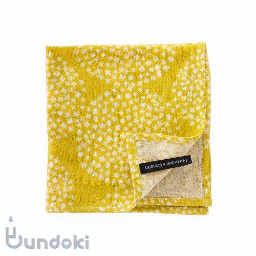 【倉敷意匠】点と線模様製作所 ダブルガーゼハンカチ (紫陽花)