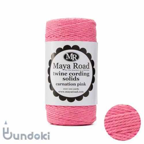 【Maya Road/マヤロード】Twine Cording solids/コットン トワイン (カーネーションピンク)