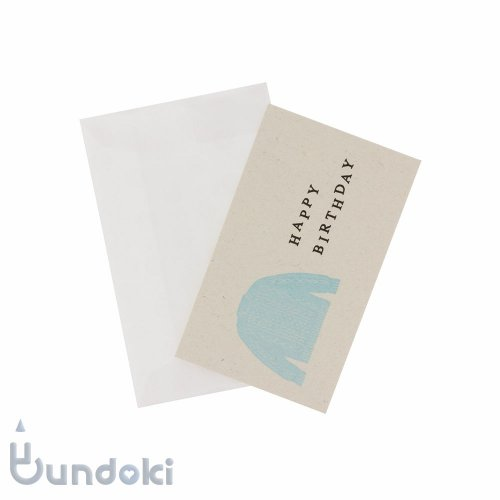 【水縞】服飾メッセージカード (HAPPY BIRTHDAY)