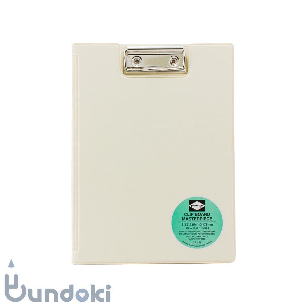 【HIGHTIDE/ハイタイド】penco クリップボード A5 (アイボリー)