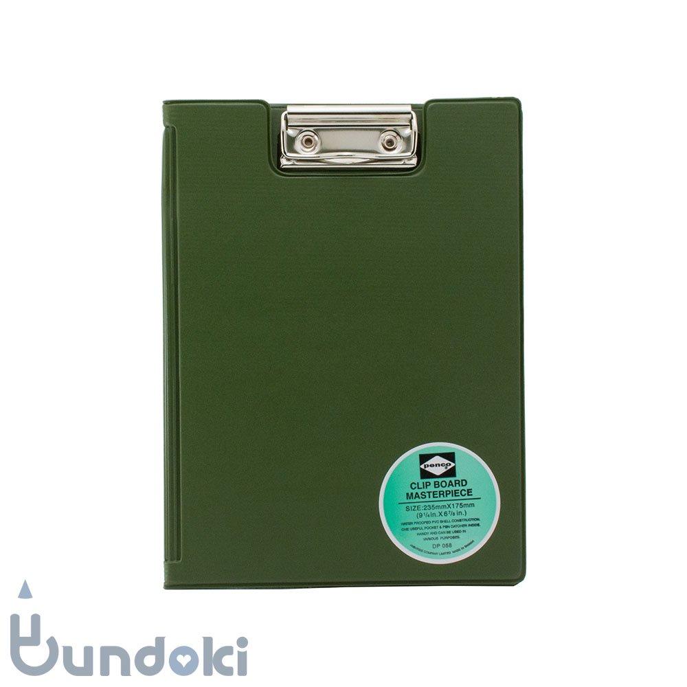 【HIGHTIDE/ハイタイド】penco クリップボード A5 (カーキ)