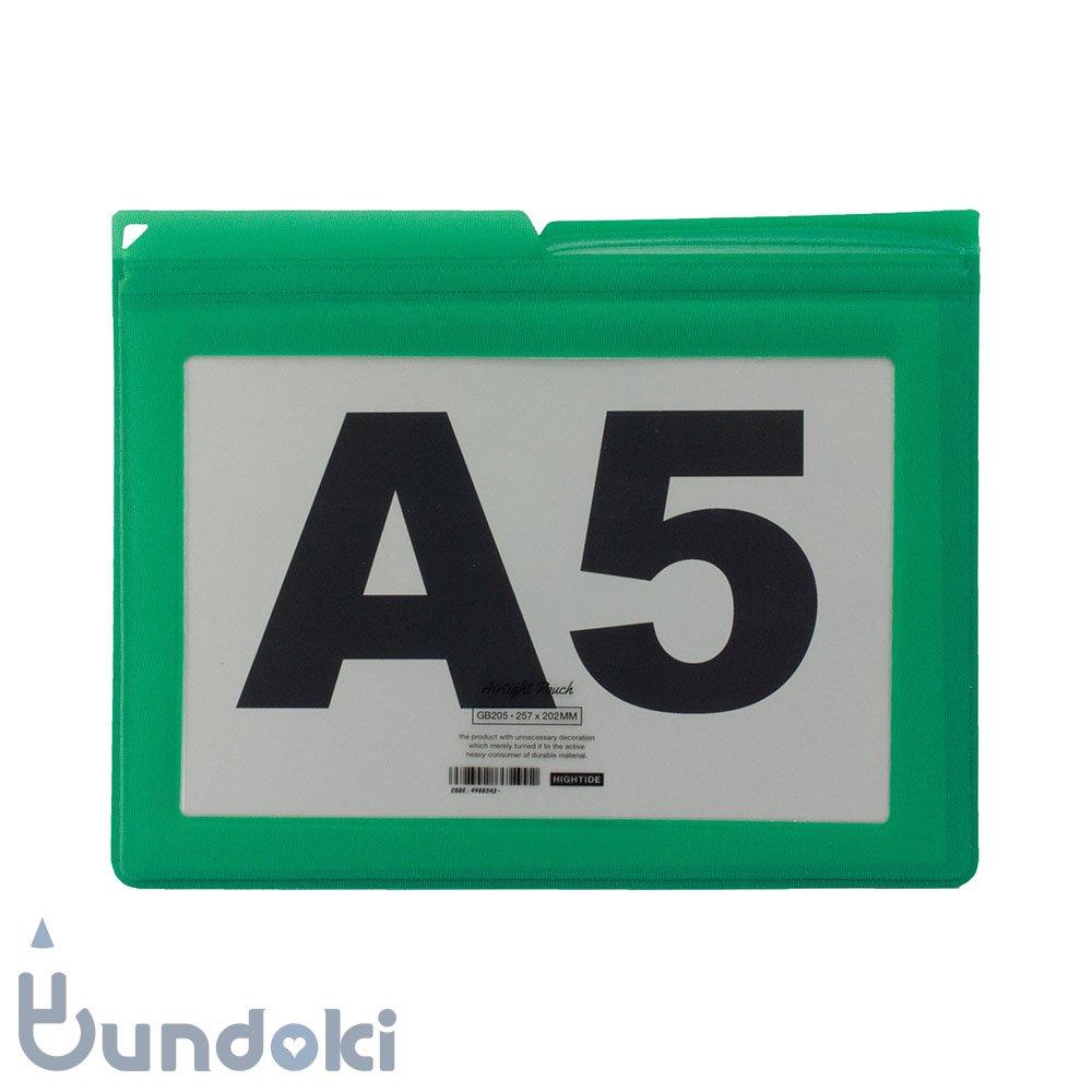 【HIGHTIDE/ハイタイド】エアタイトポーチ・A5 (グリーン)