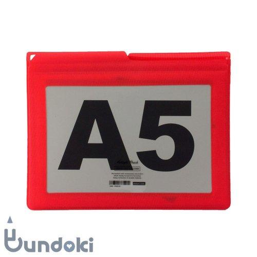【HIGHTIDE/ハイタイド】エアタイトポーチ・A5 (レッド)