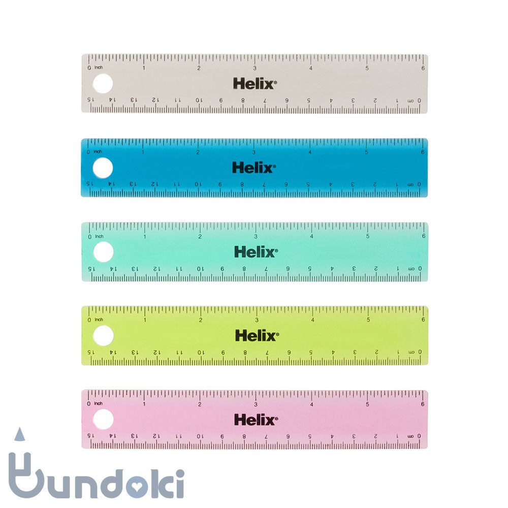 ��Helix/�إ�å�����Tinted Ring Binder Rulers /�ߥꥤ����구 (6�����/15�����)