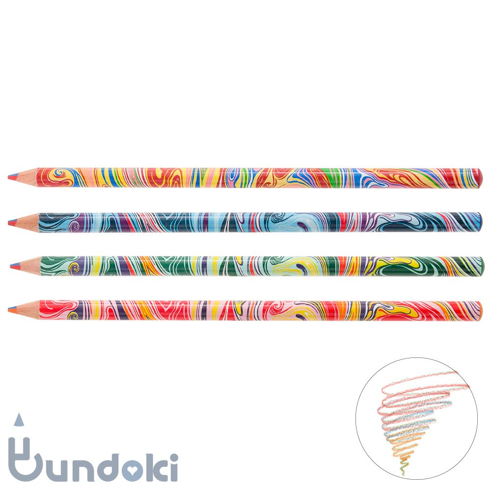 【キャメル鉛筆製作所/Camel Pencil】Color Pencil (4 in 1 color / 4色芯)