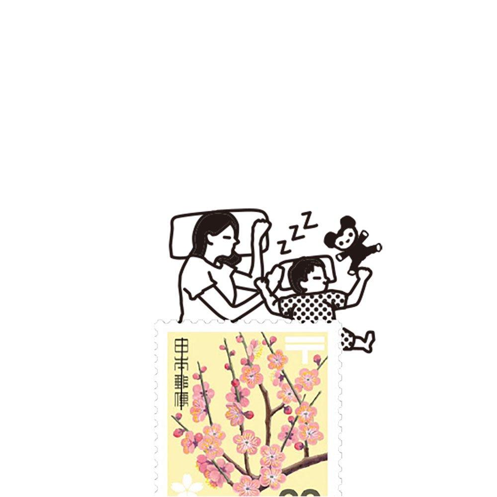 【Vectculture】切手のこびと (009-親子ですやすや)