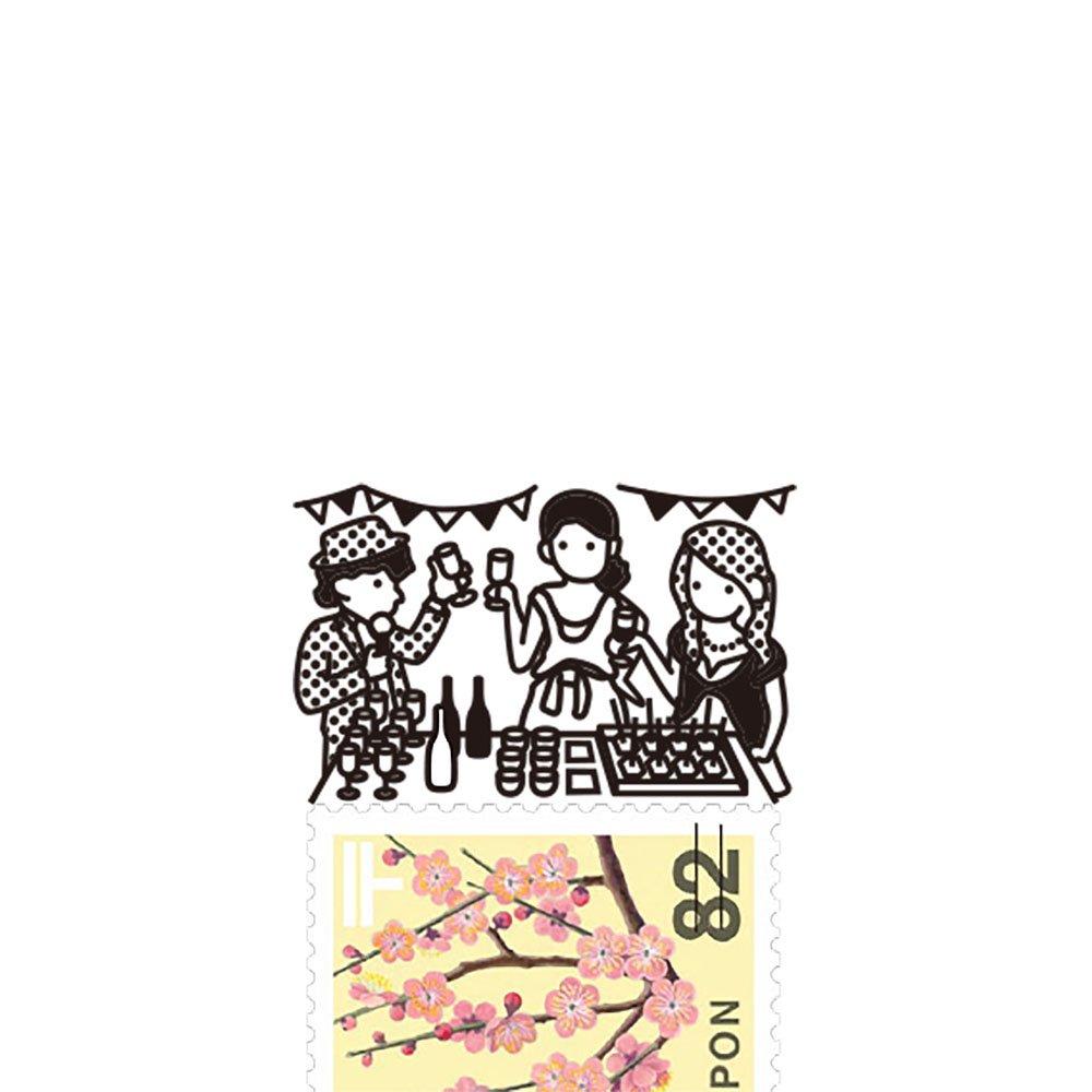 【Vectculture】切手のこびと (010-みんなでワイワイ)