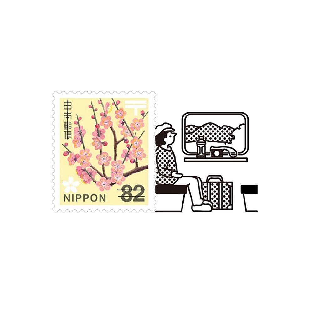 【Vectculture】切手のこびと (011-旅先の便り)