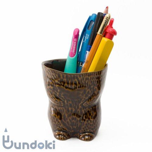 【倉敷意匠】kiyata/脱ぎたて毛皮カップ・クマ (濃茶)