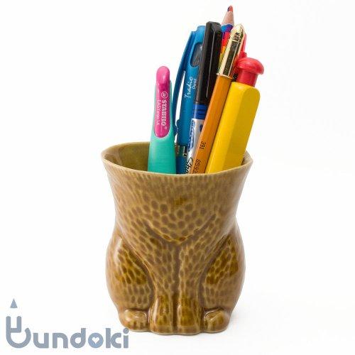 【倉敷意匠】kiyata/脱ぎたて毛皮カップ・ネコ (ブラウン)