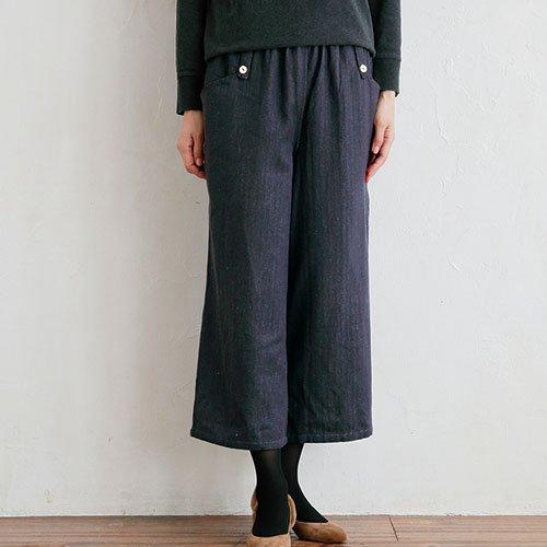杉綾織クロップドパンツ