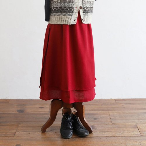 保多織ダブルスカート