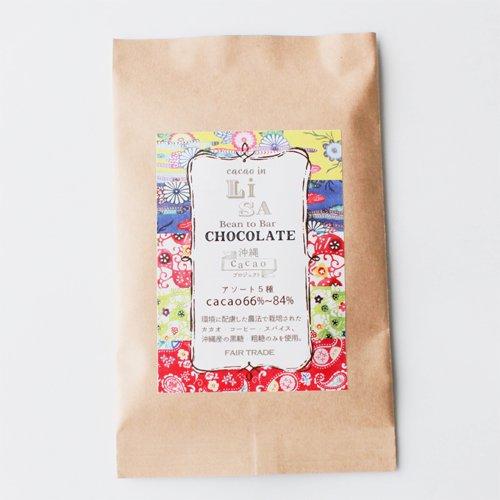*寄付付き* LISAチョコレート・アソート5種【cacao66~84%】