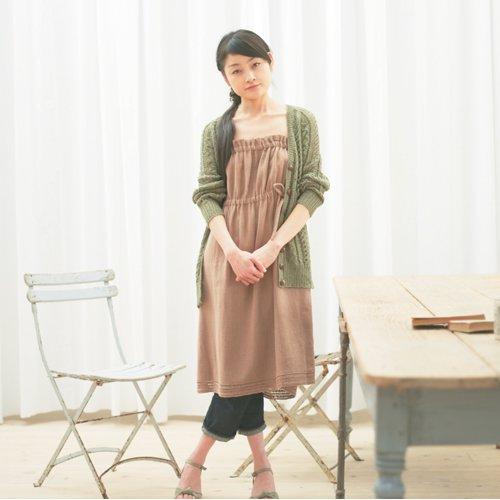 綾織チューブトップドレス