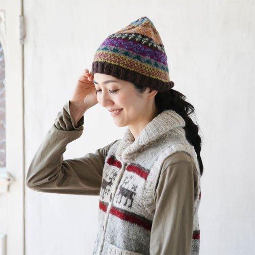 カラフルニット帽子