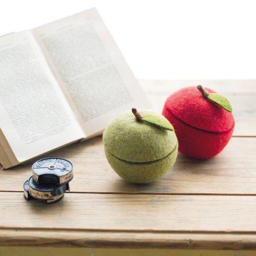 りんごのフェルトボックス