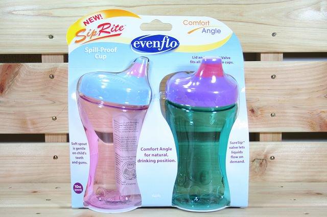 フィーディングボトル  SipRite Spill-Proof Cup Pink&Green