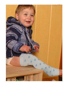 ソックス ベビーレッグス(baby legs) BabyLegs(ベビーレッグス) ブルー ポルカドット 0〜4歳用
