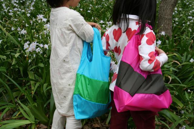ショッピングバッグ Ehako* Ehako(エハコ) ショッピングバッグ Sサイズ ピンク/ブラウン