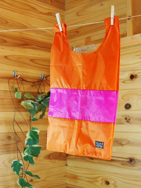 ショッピングバッグ Ehako* Ehako(エハコ) ショッピングバッグ Sサイズ オレンジ/ピンク