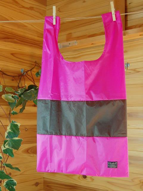 ショッピングバッグ Ehako* Ehako(エハコ) ショッピングバッグ Mサイズ ピンク/ブラウン