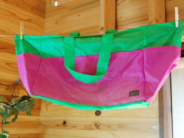 ショッピングバッグ Ehako* Ehako(エハコ) レジバッグ グリーン/ピンク